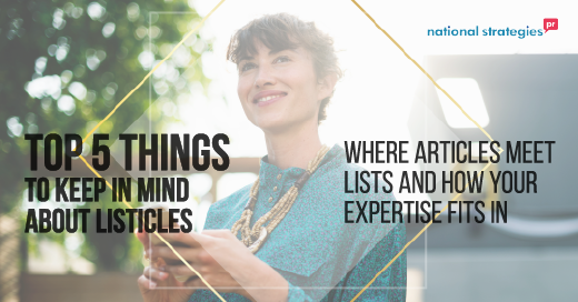 Top Five Lessons About Listicles and How Your Expertise Fits in